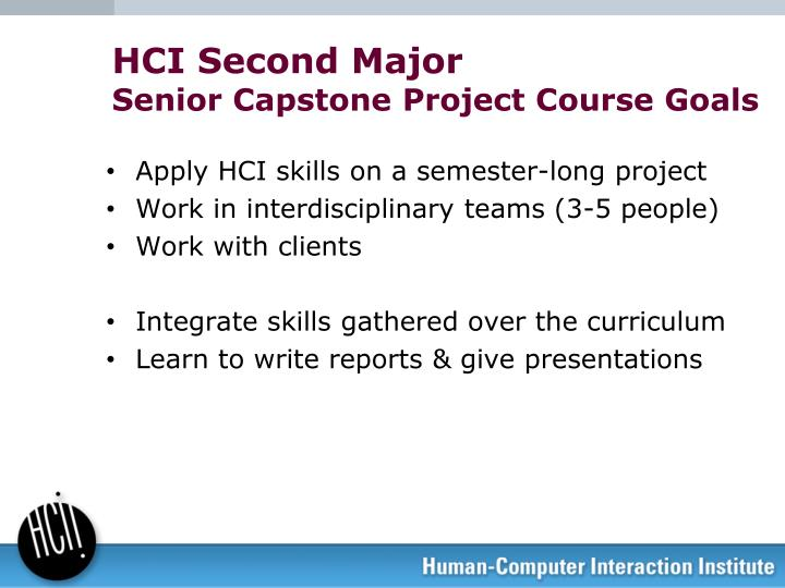 HCI Second Major