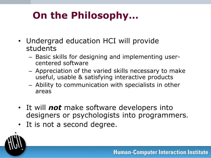 On the Philosophy…