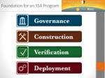 foundation for an ssa program