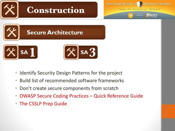 Identify Security Design Patterns for the project