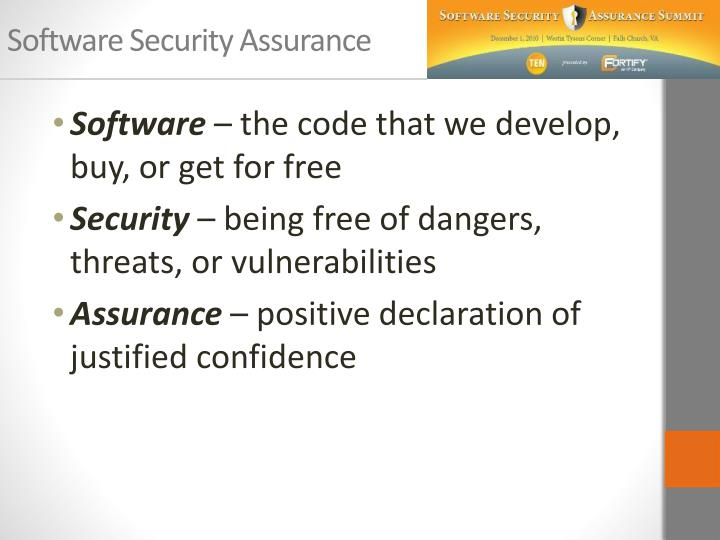 Software security assurance