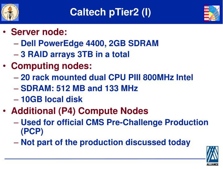 Caltech pTier2 (I)