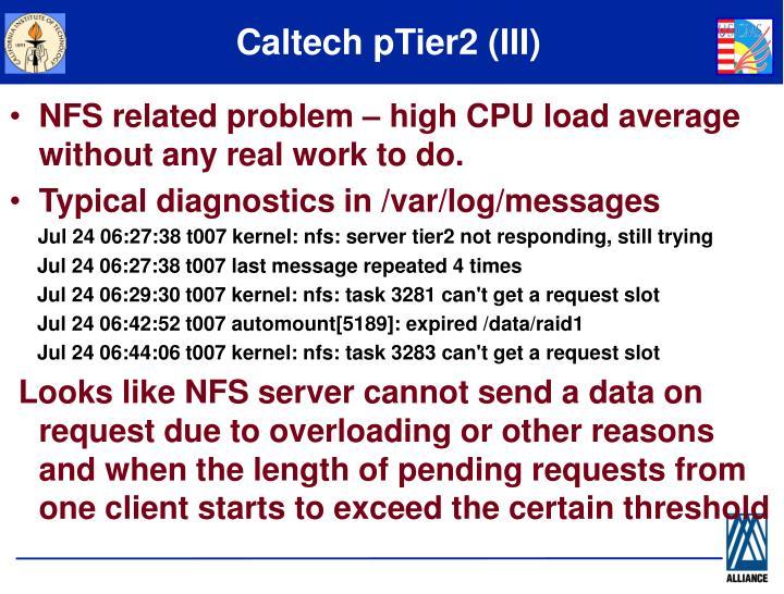 Caltech pTier2 (III)