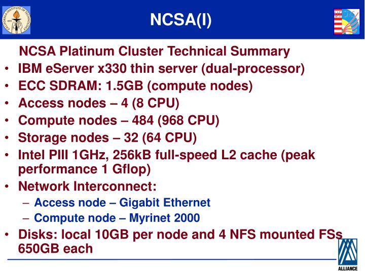 NCSA(I)