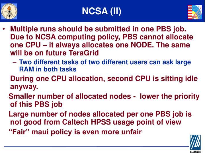 NCSA (II)