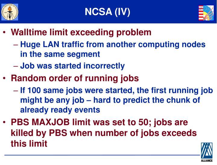NCSA (IV)