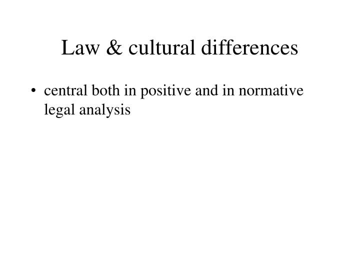 Law & cultural differences