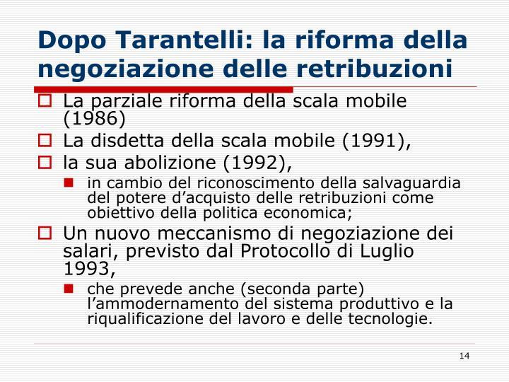 Dopo Tarantelli: la riforma della negoziazione delle retribuzioni
