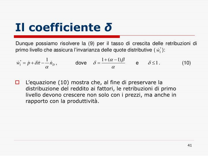 Il coefficiente