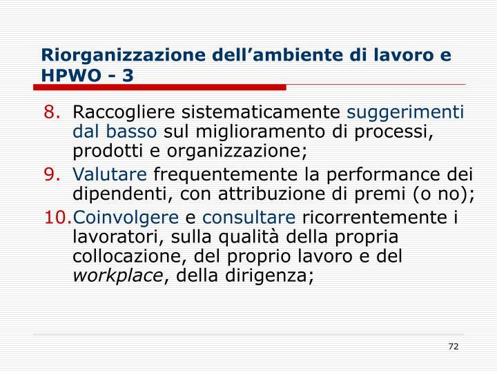 Riorganizzazione dell'ambiente di lavoro e HPWO - 3