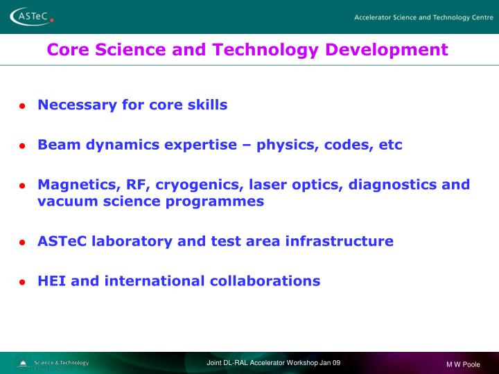 Core Science and Technology Development