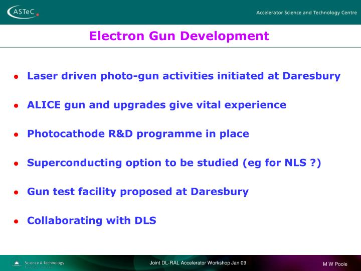 Electron Gun Development
