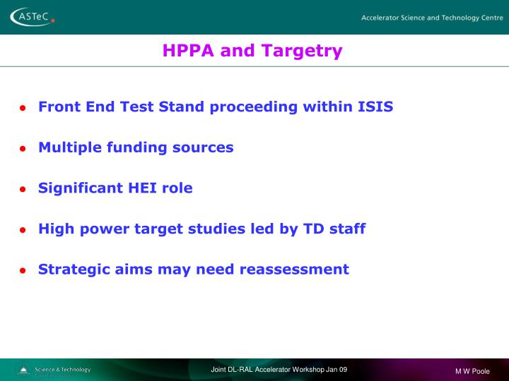 HPPA and Targetry