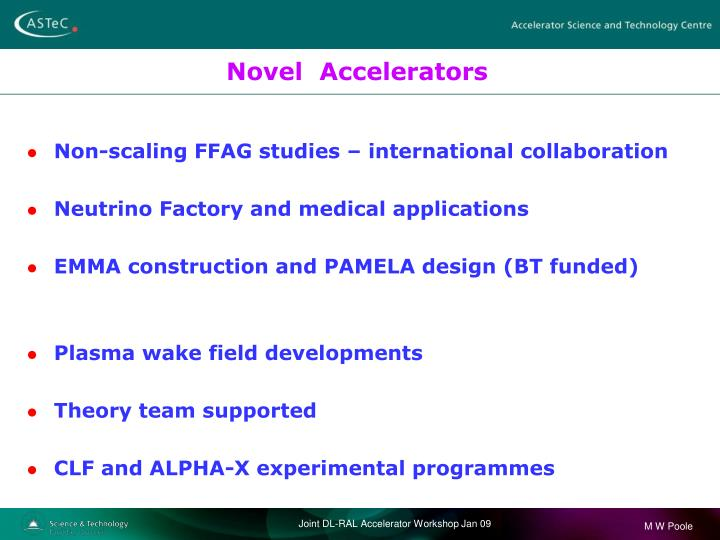 Novel  Accelerators