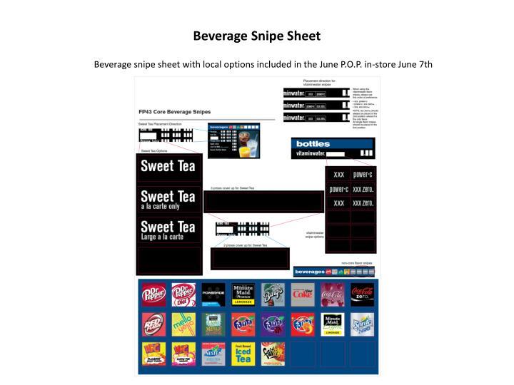 Beverage Snipe Sheet