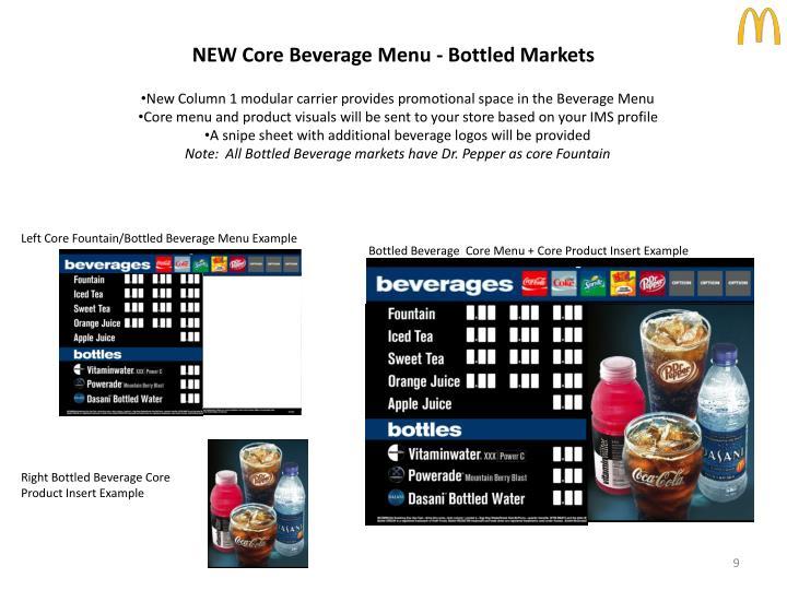 NEW Core Beverage Menu - Bottled Markets