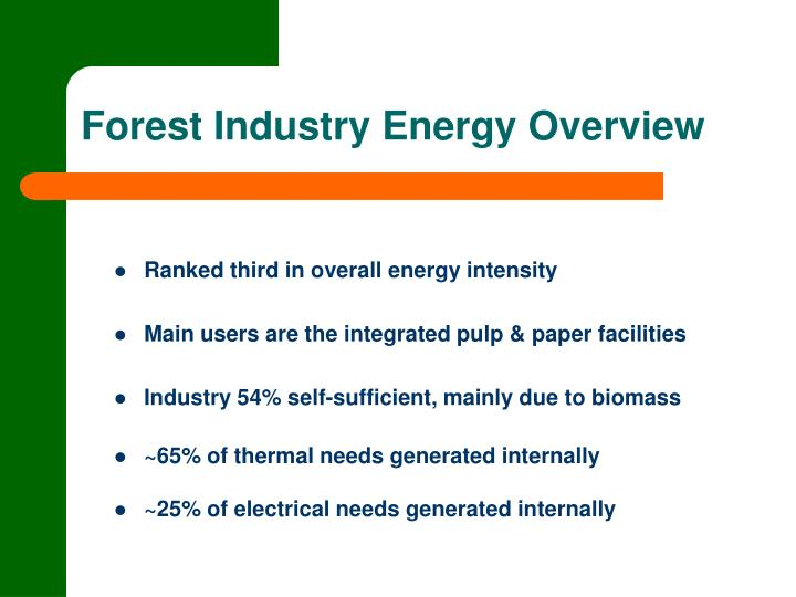 Forest Industry Energy Overview