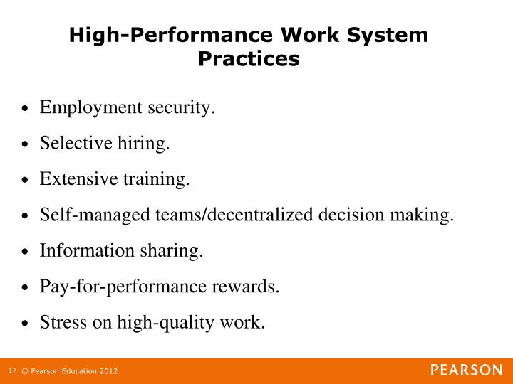 High-Performance Work System Practices