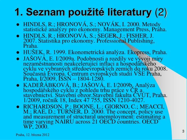 1. Seznam použité literatury