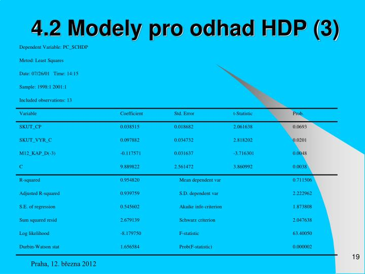 4.2 Modely pro odhad HDP (3)