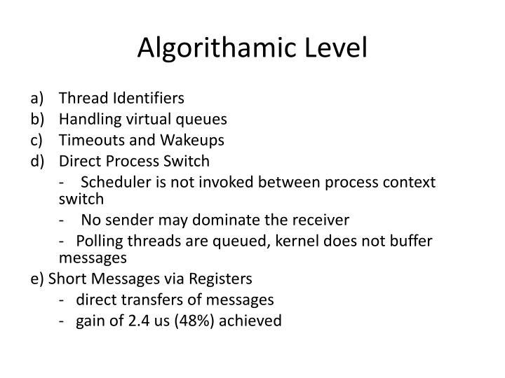 Algorithamic Level