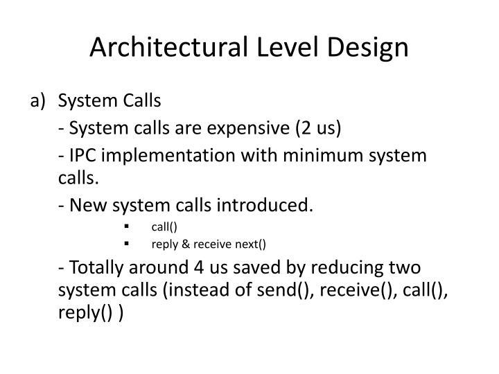Architectural Level Design