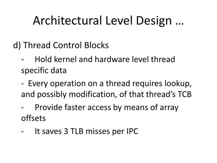 Architectural Level Design …