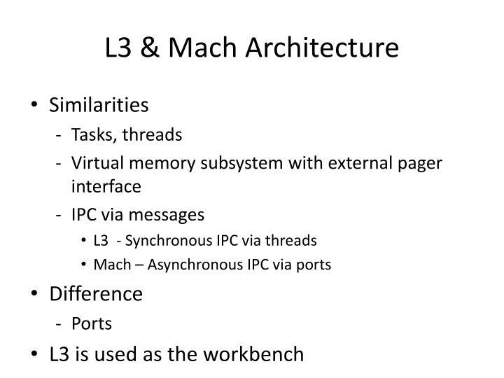 L3 & Mach Architecture