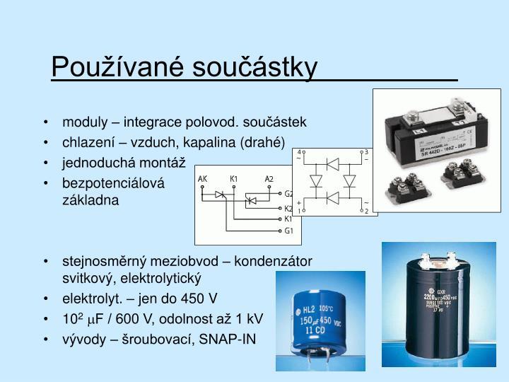 Používané součástky