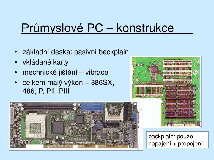 Průmyslové PC – konstrukce