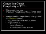 congestion games complexity of pne