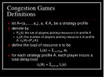 congestion games definitions1
