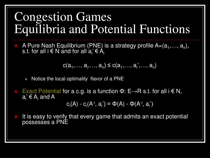 Congestion Games