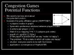 congestion games potential functions