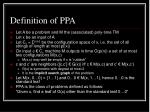 definition of ppa