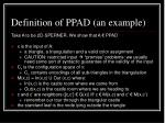definition of ppad an example