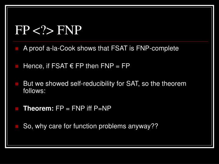FP <?> FNP