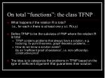 on total functions the class tfnp