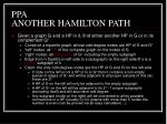 ppa another hamilton path