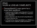 ppad nash linear compl rity