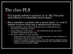 the class pls