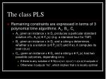 the class pls1