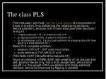 the class pls3