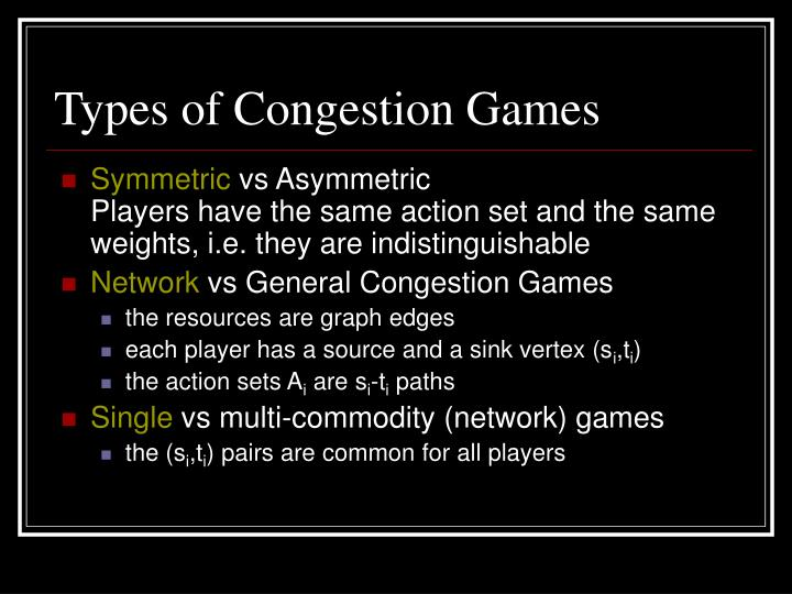 Types of Congestion Games