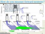 how do you measure forward neutrons