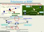 polarimetry at rhic