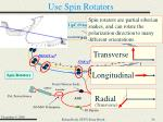 use spin rotators