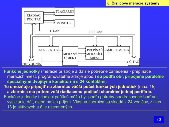 6. Číslicové meracie systémy