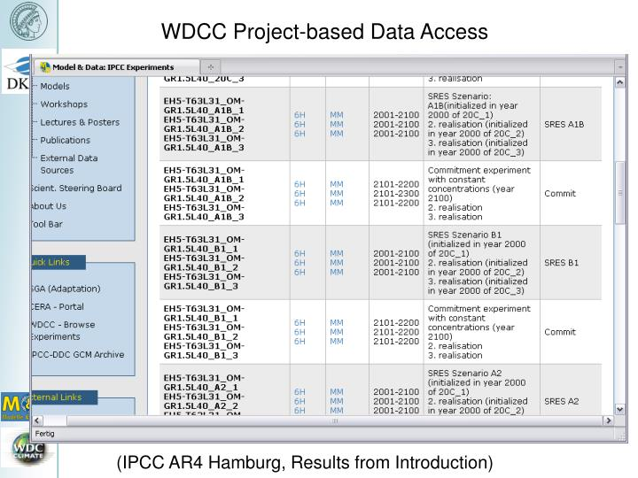 WDCC Project-