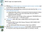 wdcc major accomplishments
